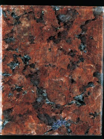 Close-Up of a Red Granite Rock-A^ Rizzi-Photographic Print