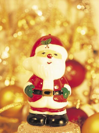 Close-up of a Santa Claus Figurine--Photographic Print