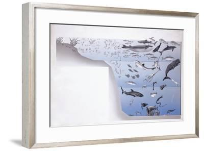 Close-Up of a School of Fish Underwater--Framed Giclee Print