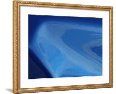 Close-up of a Shiny Dented Sheet of Metal--Framed Photographic Print