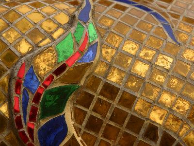 Close-Up of a Stained Glass Artwork, Thailand--Photographic Print