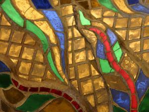 Close-Up of a Stained Glass Artwork, Thailand