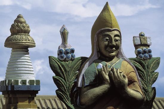 Close-Up of a Statue in a Temple, Gandan Monastery, Ulan Bator, Mongolia--Giclee Print