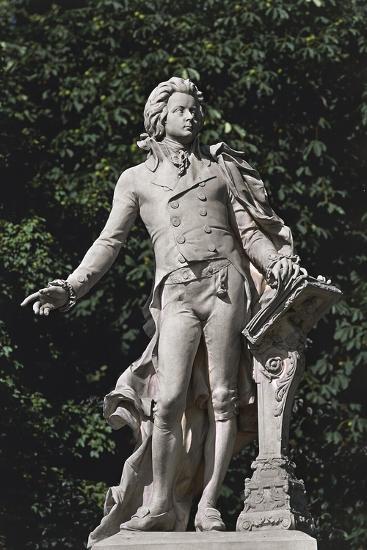 Close-Up of a Statue, Mozart Statue, Vienna, Austria--Giclee Print