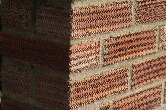 Close Up of a Surface Patterned Brick Wall-Natalie Tepper-Photo