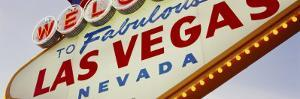Close-up of a Welcome Sign, Las Vegas, Nevada, USA