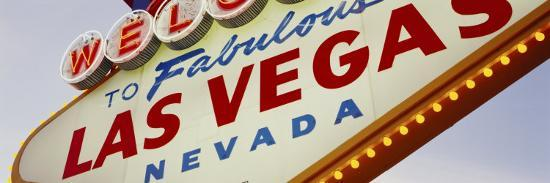 Close-up of a Welcome Sign, Las Vegas, Nevada, USA--Photographic Print