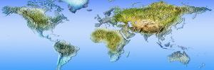 Close-Up of a World Map