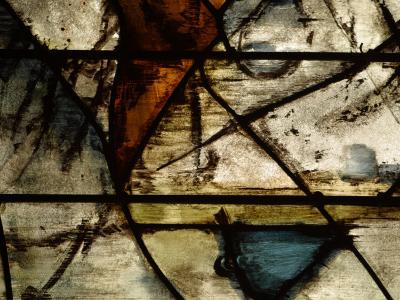 Close-Up of Abstract Pattern in Stained Glass--Photographic Print