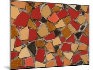 Close-Up of Abstract Red Mosaic Background