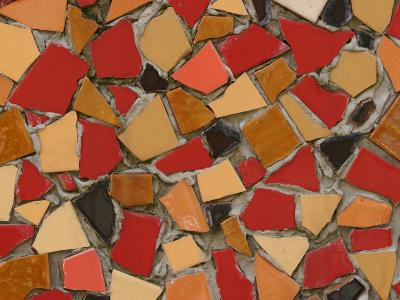 Close-Up of Abstract Red Mosaic Background--Photographic Print