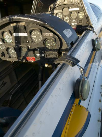 Close-Up of Airplane Cockpit--Photographic Print