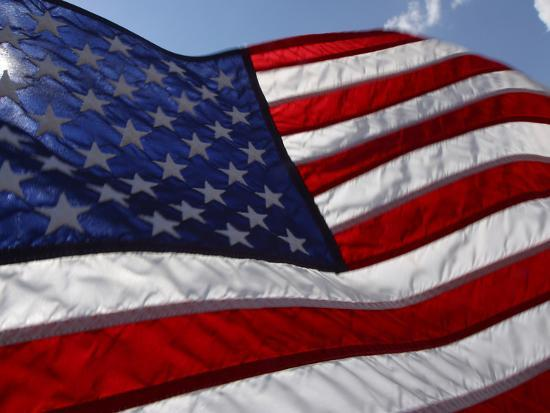 Close-up of American Flag--Photographic Print