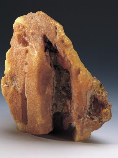 Close-Up of an Amber Rock--Photographic Print
