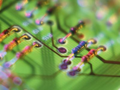 Close-up of An Electronic Circuit Board.-Tek Image-Photographic Print