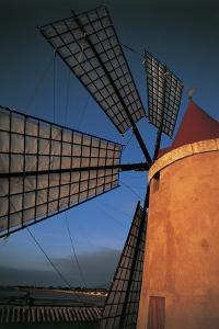Close-Up of an Industrial Windmill, Paceco, Trapani, Sicily, Italy