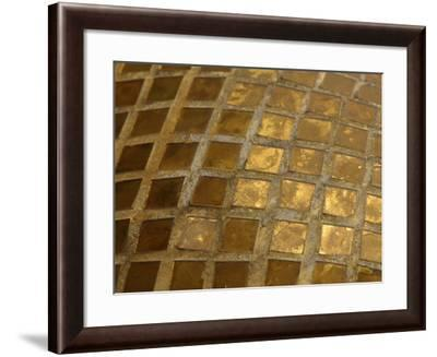 Close-up of an Intricate Colorful Mosaic Stained Glass Window--Framed Photographic Print