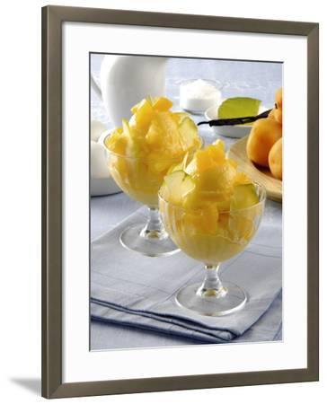 Close-Up of Apricot Ice-Cream in Glasses-P^ Bassanini-Framed Photographic Print