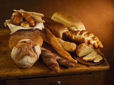 Close-Up of Assorted Breads--Photographic Print