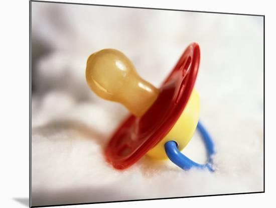 Close-up of Baby's Pacifier-Terry Why-Mounted Photographic Print