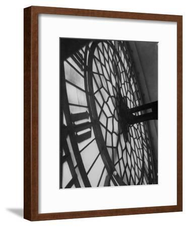 Close Up of Back of Lit Face of Big Ben-Emil Otto Hoppé-Framed Premium Photographic Print