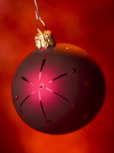 Close-up of Beautiful Christmas Ornament--Photographic Print