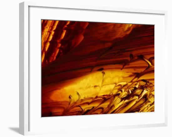 Close-up of Bright Colorful Paint Smeared with a Rough Texture--Framed Photographic Print