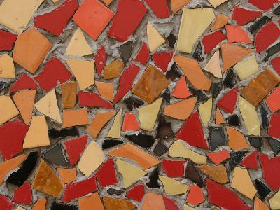 Close-up of Bright Pieces of Tile in a Colorful Mosaic--Photographic Print