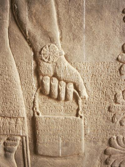 Close up of Carved Relief, Nimrud, Iraq, Middle East-Nico Tondini-Photographic Print