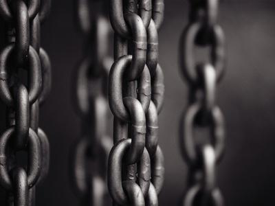 Close Up of Chain Links-David H^ Wells-Photographic Print