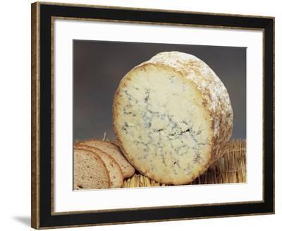 Close-Up of Cheese (Stilton)-G^ Cigolini-Framed Photographic Print