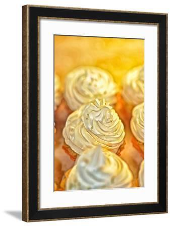 Close Up of Cream Pastries-Kike Calvo-Framed Photographic Print