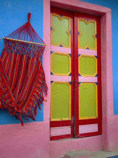 Close-up of Doorway and Hammock, Raquira, Boyaca Region, Columbia, South America-D Mace-Photographic Print