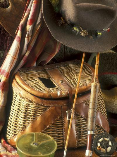 Close-up of Fishing Equipment And a Hat--Photographic Print