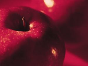 Close-Up of Fresh Apple with Dew