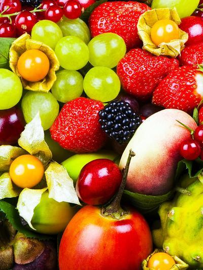 Close up of Fresh Fruits - Fruit assortments - Fruits and Vegetables-Philippe Hugonnard-Photographic Print
