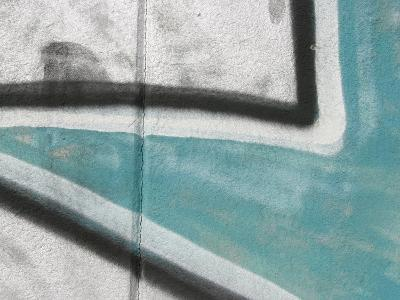 Close Up of Graffiti Mural on Concrete Wall--Photographic Print