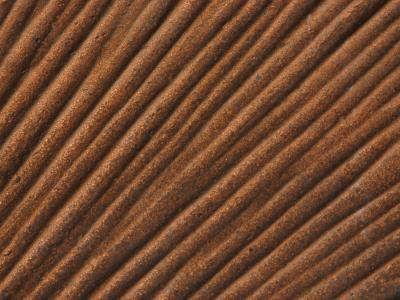 Close-Up of Grooved Pattern and Texture in Wood--Photographic Print