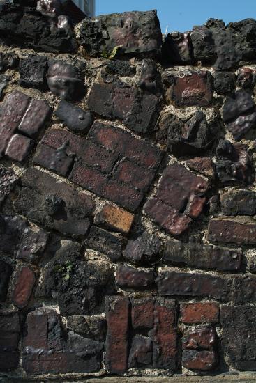 Close Up of Higgledy Piggeldy Patchwork Brick Wall-Natalie Tepper-Photo