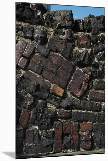 Close Up of Higgledy Piggeldy Patchwork Brick Wall-Natalie Tepper-Mounted Photo