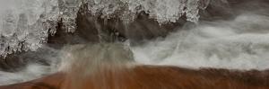 Close-Up of Icicles on Sandstone, Moab, Utah, USA