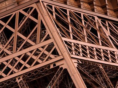 Close-Up of Intricate Details of Architectural Design of Eiffel Tower--Photographic Print