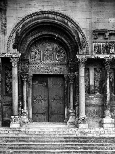 Close Up of Left Portal of Romanesque Church of St. Gilles du Gard, Provence-Gjon Mili-Photographic Print