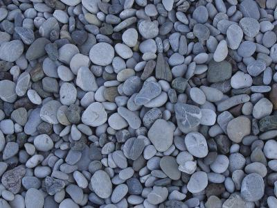 Close-up of Many Colorful Pebbles Under Clear Blue Water--Photographic Print