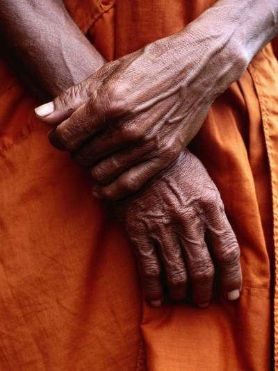 Close Up of Monk's Hands-Daniel Boag-Photographic Print