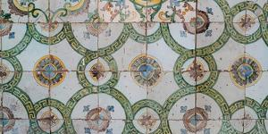 Close-up of mosaic tiles in a mosque, El-Jazzar Mosque, Acre (Akko), Israel