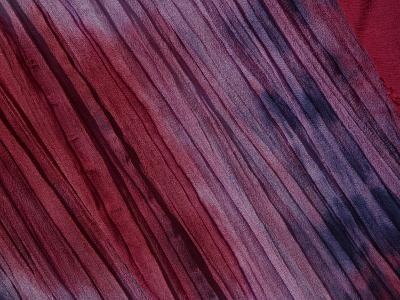 Close-Up of Multicolored Fabric with Purple and Pink in New Orleans, Lousiana--Photographic Print