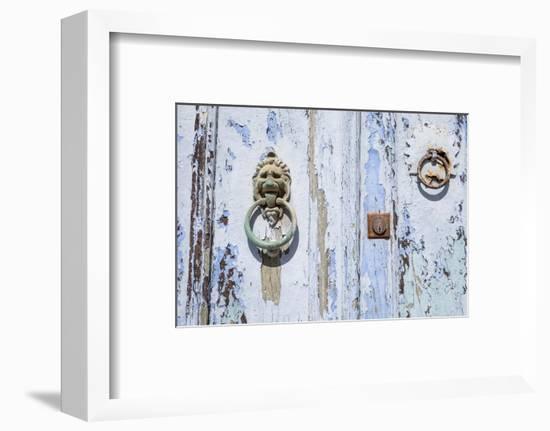 Close Up of Old Door with Door Knocker-Krista Rossow-Framed Photographic Print