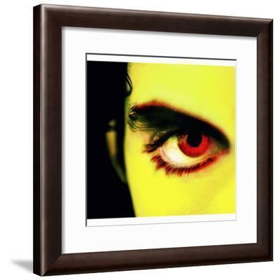 Close-up of Person's Red Eye--Framed Photographic Print
