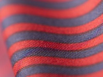 Close-up of Red and Blue Striped Material--Photographic Print